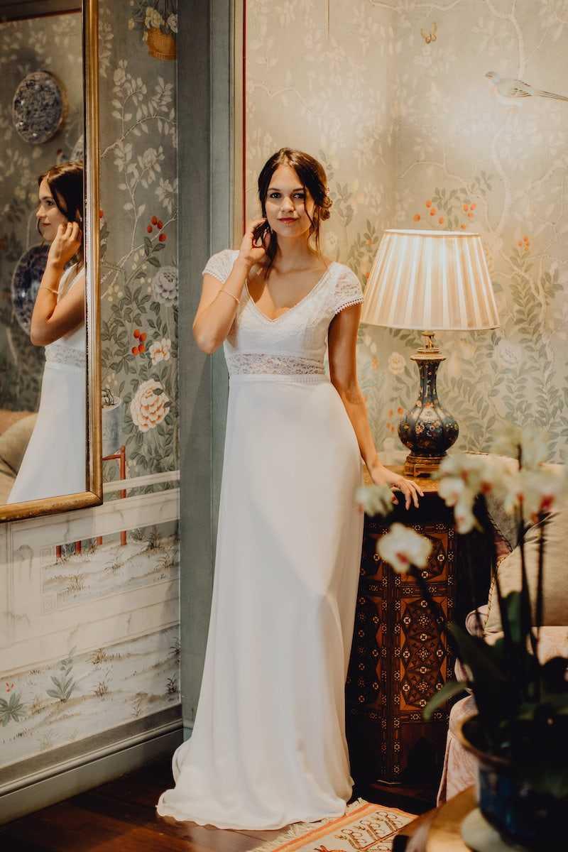 décoration baroque pour robe de mariée